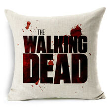 "18"" Walking Dead Linen Throw Pillow Case Sofa Home Deco Cushion Cover 180g"