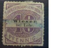 GERMANY - Darlehenskasenverein fiscal - Wiesen bei Lohr - 10 Pfennig