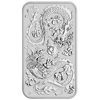 2020 Dragon 1oz .9999 Silver Bullion Rectangular Coin - The Perth Mint