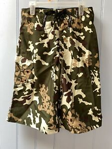 Maui And Sons Camouflage Boys Youth Mesh Lined  Board Shorts Swimwear Size 14