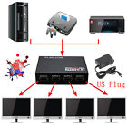 HOT Full HD HDMI Splitter 4 Port Hub Repeater Amplifier v1.4 3D 1080p 1 in 4 out