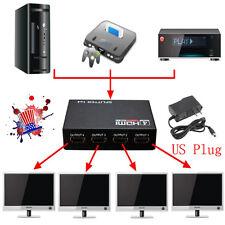1080p Full HD 1X4 4Port Hub Repeater v 1.3 3D Amplifier HDMI Splitter Box US EK
