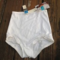 Vtg White Nylon Granny Panties M Sissy Pants Brief Panty Lace Whisper Soft Undie