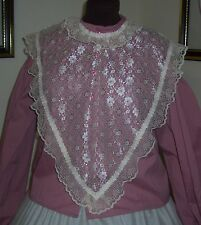 Civil War/Victorian/Sass Ladies Lace Bertha Fichu(off white)pointed front & back
