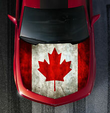 H61 CANADA FLAG Hood Wrap Wraps Decal Sticker Tint Vinyl Image Graphic
