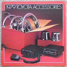 1979 TOYOTA ACCESSORIES BROCHURE -CELICA-COROLLA-CORONA-PICKUP-LAND CRUISER