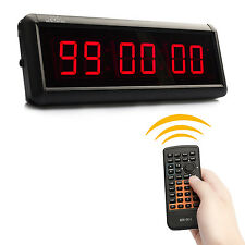 1.5 inch LED Countdown Clock Count Up Countdown Timer For GYM Speech Swim Use