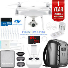 DJI Phantom 4 Pro Quadcopter Drone + Battery Charging Hub + Custom Backpack