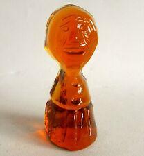 Rare ERIC HOGLUND Amber coloured sculpture for Kosta Boda
