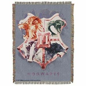 Harry Potter Houses Together Woven Tapestry Throw Blanket,