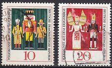 DDR Mi.-Nr. 1333-1334 gestempelt Volkskunst aus dem Erzgebirge