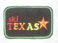 "Ski Texas Patch - vintage - 2 7/8"" x 2"""