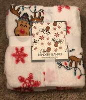 Super Soft Reindeer Throw Blanket 50''x 60''