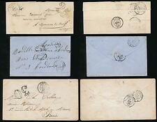 France 1851-58 Tpos + Chiffre Taxe on 2 Envelopes + Wrapper