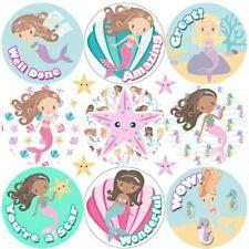 234 Mermaid Praise Word Reward Stickers for School Teachers, Parents and Nursery