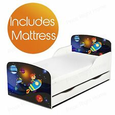 lit de tout-petit espace fusée MDF avec stockage sous-lit + Matelas ressort