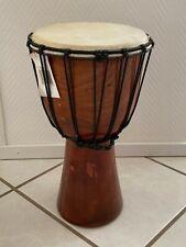 Djembe Trommel 40cm unbemalt Holztrommel Afrika Percussion Ø 20cm