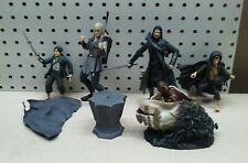 Lord of the Rings Lot of 4 Figures with Pedestal and Orc Spawn Egg