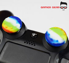 2 x Rubber Thumb Stick Grip - PS3 PS4 XBOX One Analog Controller - Multicoloured