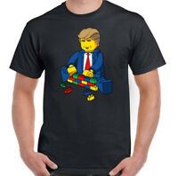 President Trump T-Shirt Building His Lego Wall Mens Funny Unisex Tee Top