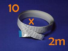 10 X FFC B 15Pin 1.0Pitch 200cm Raspberry Pi Ribbon Cable Kabel Flachbandkabel