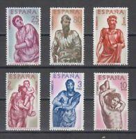 ESPAÑA (1962) MNH NUEVO SIN FIJASELLOS SPAIN - EDIFIL 1438/43 BERRUGUETE