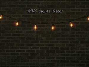 10 Ft Indoor Outdoor Patio String Lights, Set of 10 Glass Edison Style Bulbs
