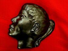 Danish Modern Art SCULPTURE MCM Danish Pottery Girl Profile Plaque EMIL RUGE 3D