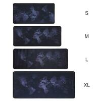World Map Natural Rubber Large Gaming Mouse Pad Computer Keyboard Desk Mat S-XL