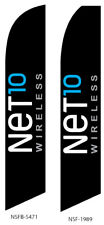 New listing Net 10 Flutter Feather Flag Swooper Advertising Sign Ba