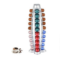40 Nespresso Capsule Coffee Pod Disc Holder Tower Stand Milk Cream Steel Rack