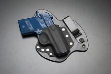 Sig Sauer P938 Black Leather Kydex Hybrid Gun Holster IWB Appendix Carry