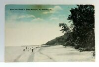 Fort Sheridan Illinois Along Shore Of Lake Michigan Vintage Postcard