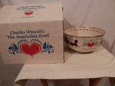 The Americana Bowl Pickard China  Greenich Workshop designer Charles Wysocki NEW