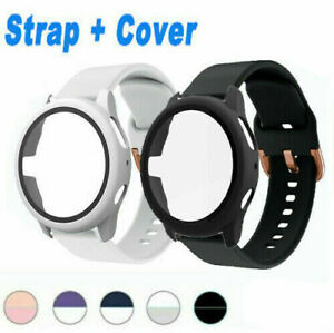 For Samsung Galaxy Watch Active 2 40/44mm Silicone Watch Band Cover Sport Strap