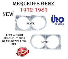 Left & Right Headlight Door Bezel Lens Set For Mercedes 380SL 450SL 450SLC 560SL