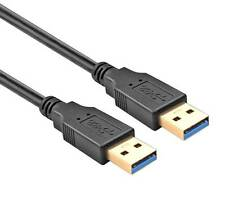 6Ft USB 3.0 Super Speed 5Gbps Gold Plate Type A Male to Male Cable