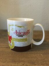 Starbucks Chicago Mug 2008 Christmas Happy Holiday Magnificent Mile