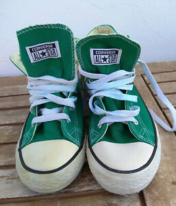 Converse All Star Green Hi Shoes Made In USA Mens 6 US/Wo's 8/UK 6/EUR 39