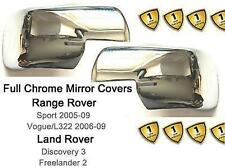 Land Rover Discovery III LR3 2.7 TD 4.0 4.4 2004-09 Chrome FULL Mirror Covers