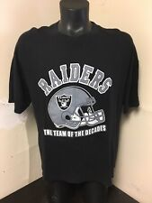 Vintage Oakland Raiders T Shirt Sz XL Double Sided