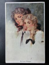 c1912 Reif zum Pflucken (Young Ladies with Cherries in Mouth) by A. Schurer & Co