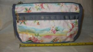 MIP Lesportsac Plumeria Rainbow Travel Cosmetic Pouch Hawaii Boutique Exclusive