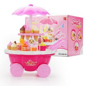 Kids Candy cart with light and music a beautiful stand that holds ice creams Toy