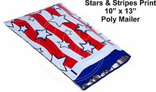(35) Stars & Stripes 10 x 13 Poly Mailers Self Sealing Envelopes Bags Color