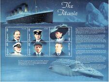 SELLOS TEMA TITANIC GUYANA 1998 4543/48 6v.MH