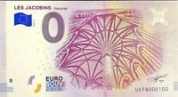 BILLET 0  EURO LES JACOBINSTOULOUSE FRANCE 2018 NUMERO 100