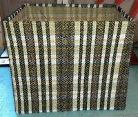"Vintage 1970s Retro Fabric Woven Lamp X-Large 18"" Rectangular Lamp Shade"