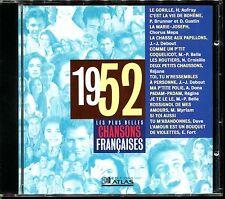 LES PLUS BELLES CHANSONS FRANCAISES - 1952 - CD COMPILATION ATLAS