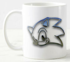 Glass Effect Sonic  Mug 11 oz Ceramic, Can add text